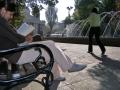 Пейки Виена в Градската градина