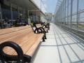 Пейка чугунена с облегалка за чакалня за летище Варна .jpg