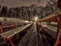 Паркови пейки с верзалитни седалки с рекламен надпси Столична община