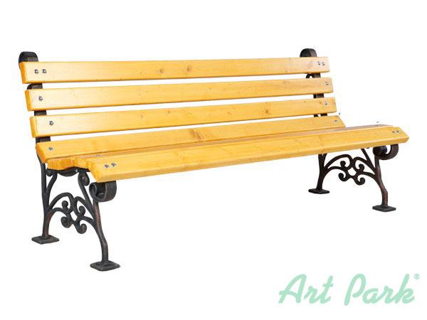 Атина - дървена пейка с чугунени или алуминиеви крака
