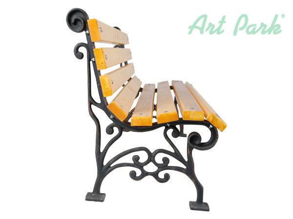 Дървена паркова пейка, крака от алуминий или чугун