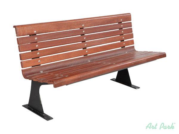 Градинска чугунена пейка с дървена седалка