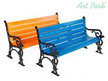 Лондон - градинска пейка в различни цветове