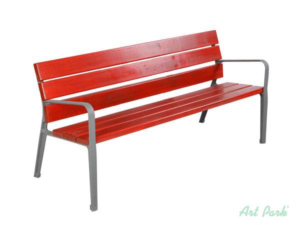Дървена пейка с цветен лак с УВ защита