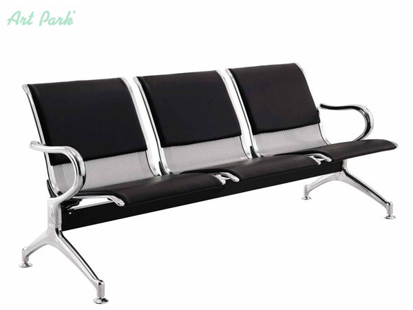 Офис пейка за посетители в чакалня с 3 седалки