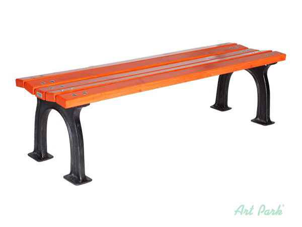 Рим - дървена пейка без облегалка