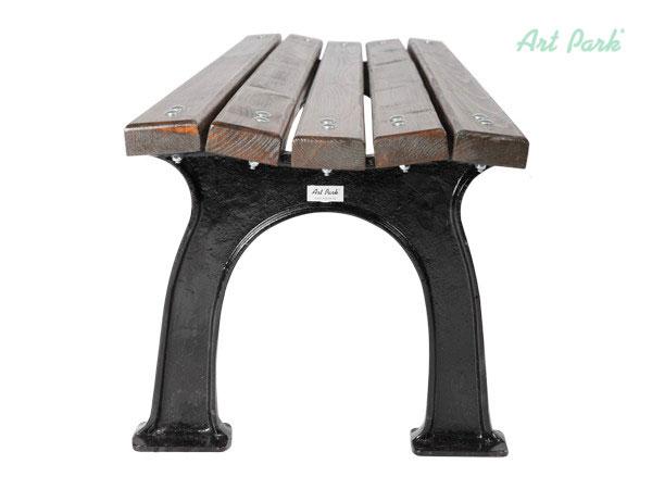 Чугунена пейка Рим с дървена седалка