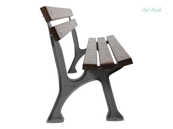 Евтина дървена пейка с чугунени крака