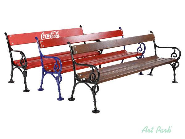 Дървена пейка с възможност за реклама
